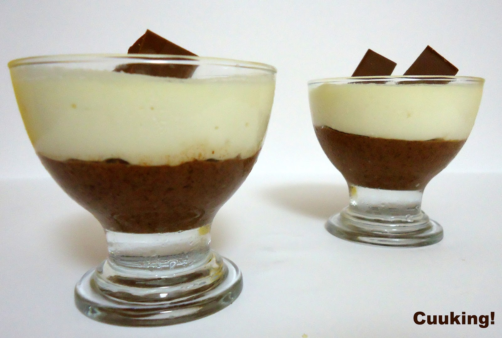 Copa mousse dos chocolates
