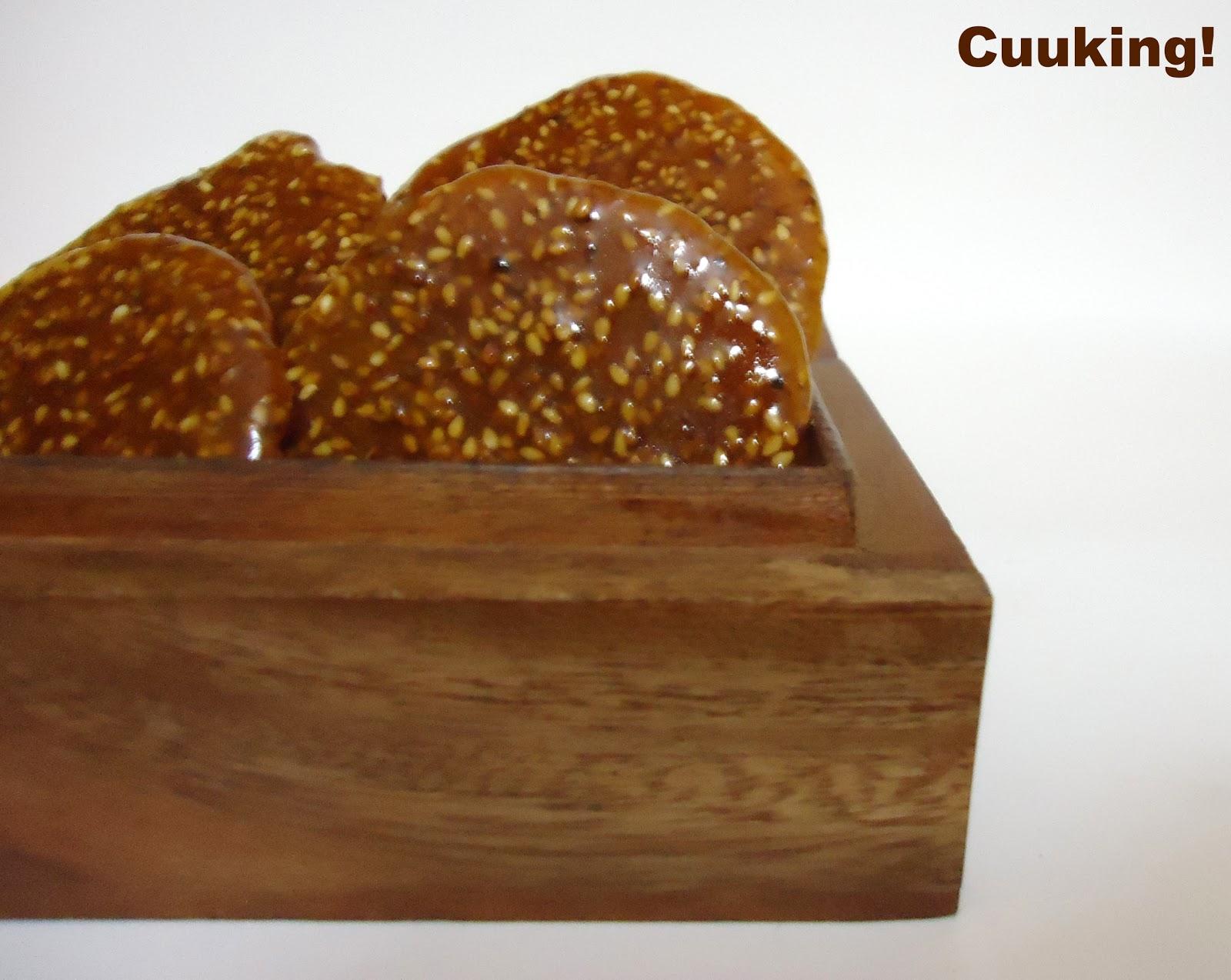 Galletas de sésamo crocantes