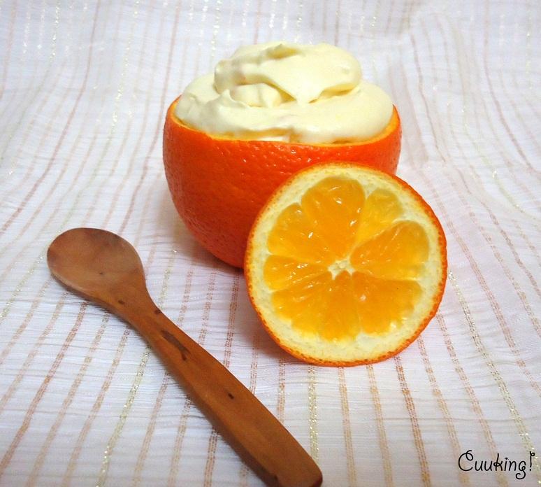 Mousse de naranja al cardamomo