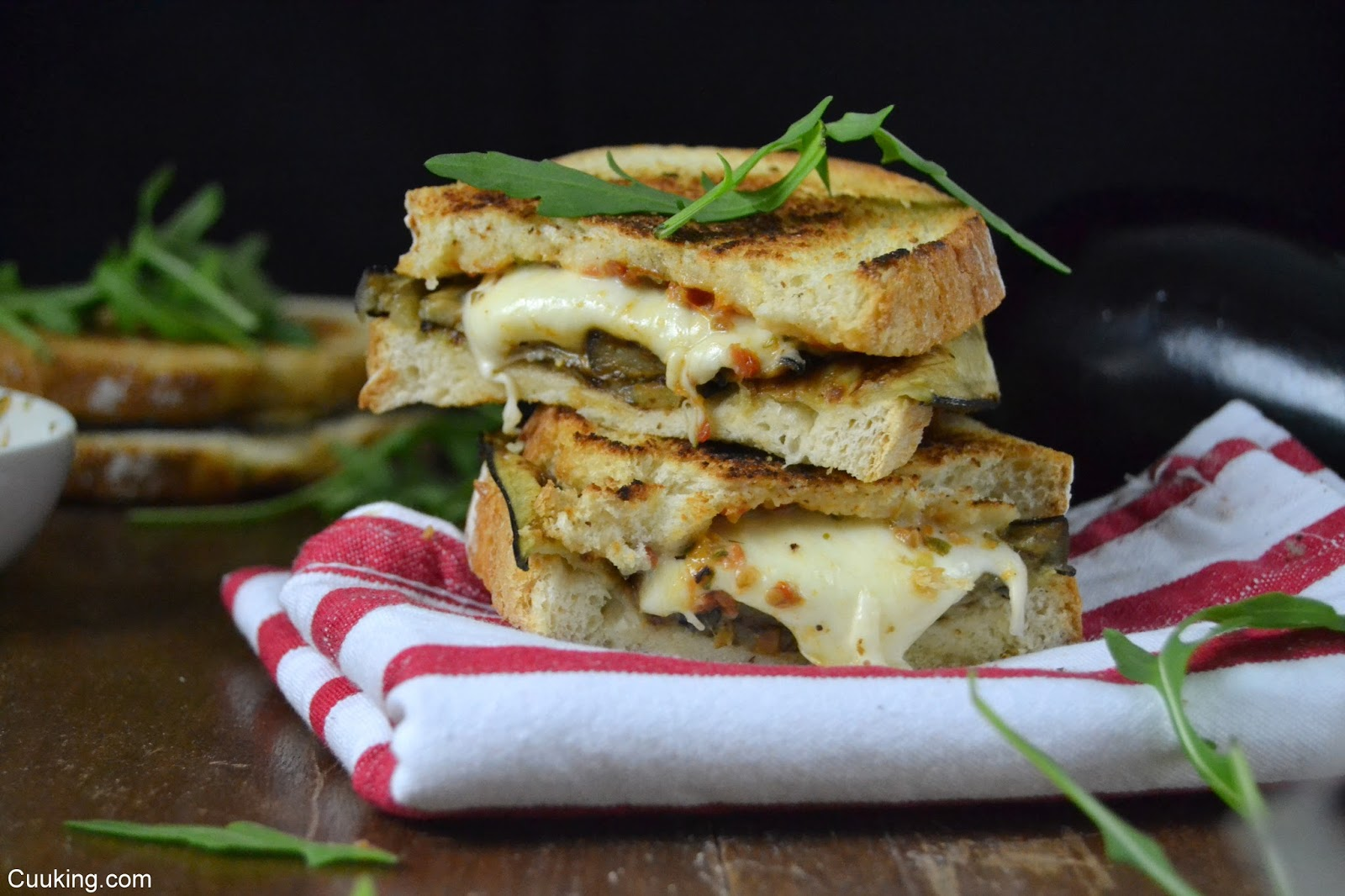 Sandwich italiano de mozzarella y berejena #ClubSandwich