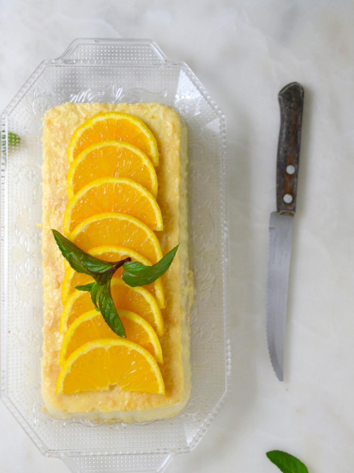 pudin de naranja fácil