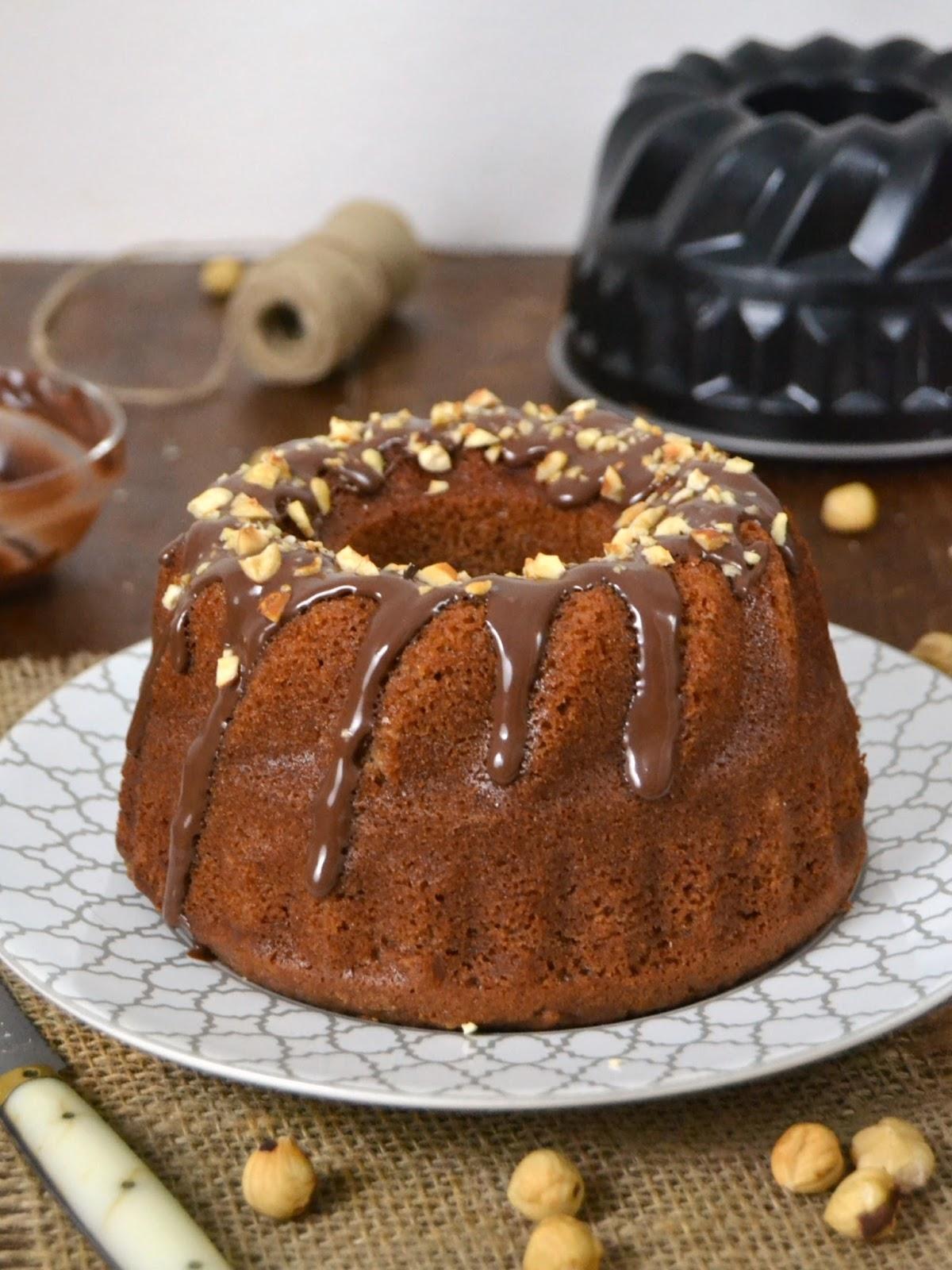 bundt cake de nutella. bizcocho de nutella