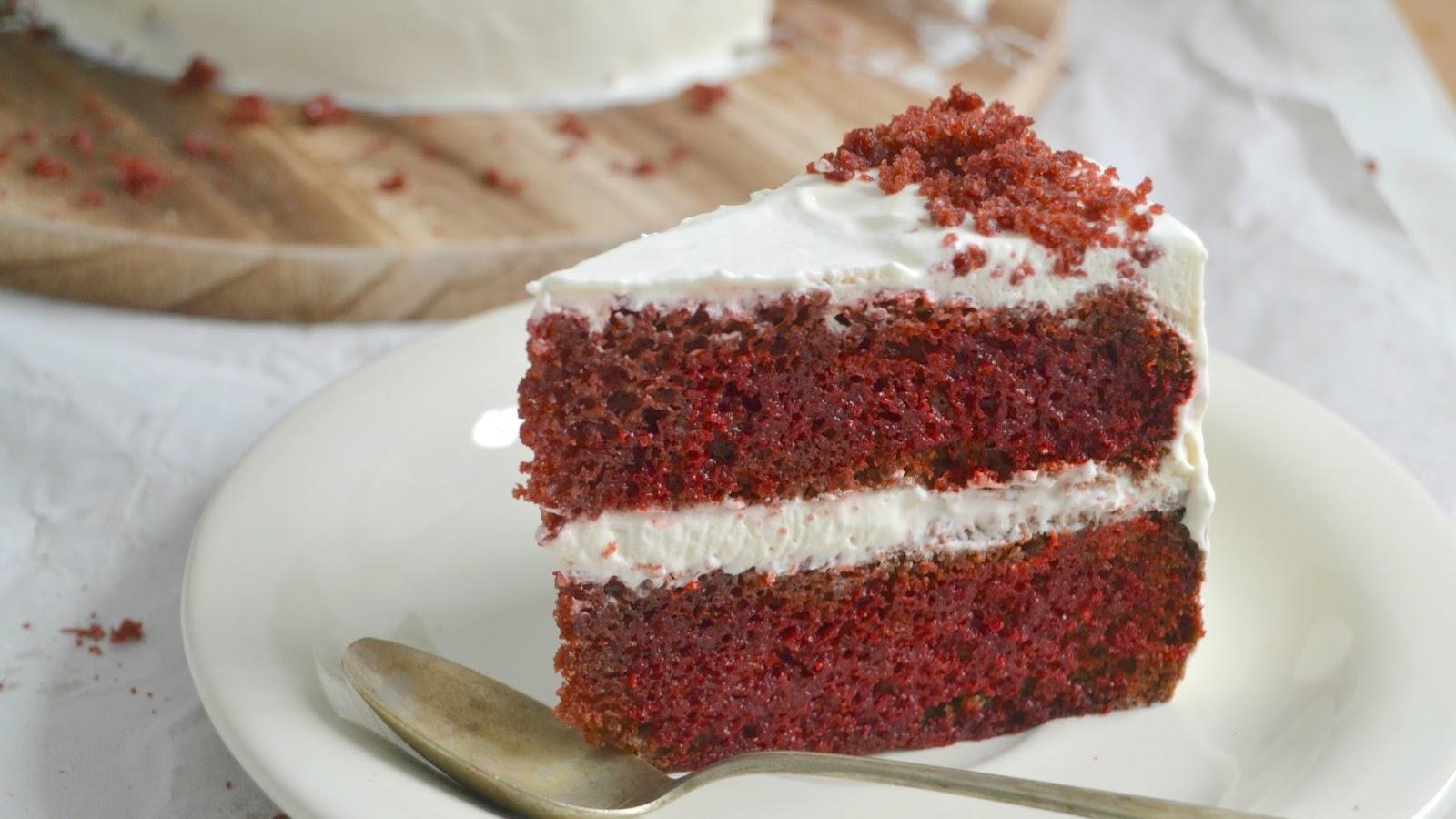 Tarta red velvet o terciopelo rojo