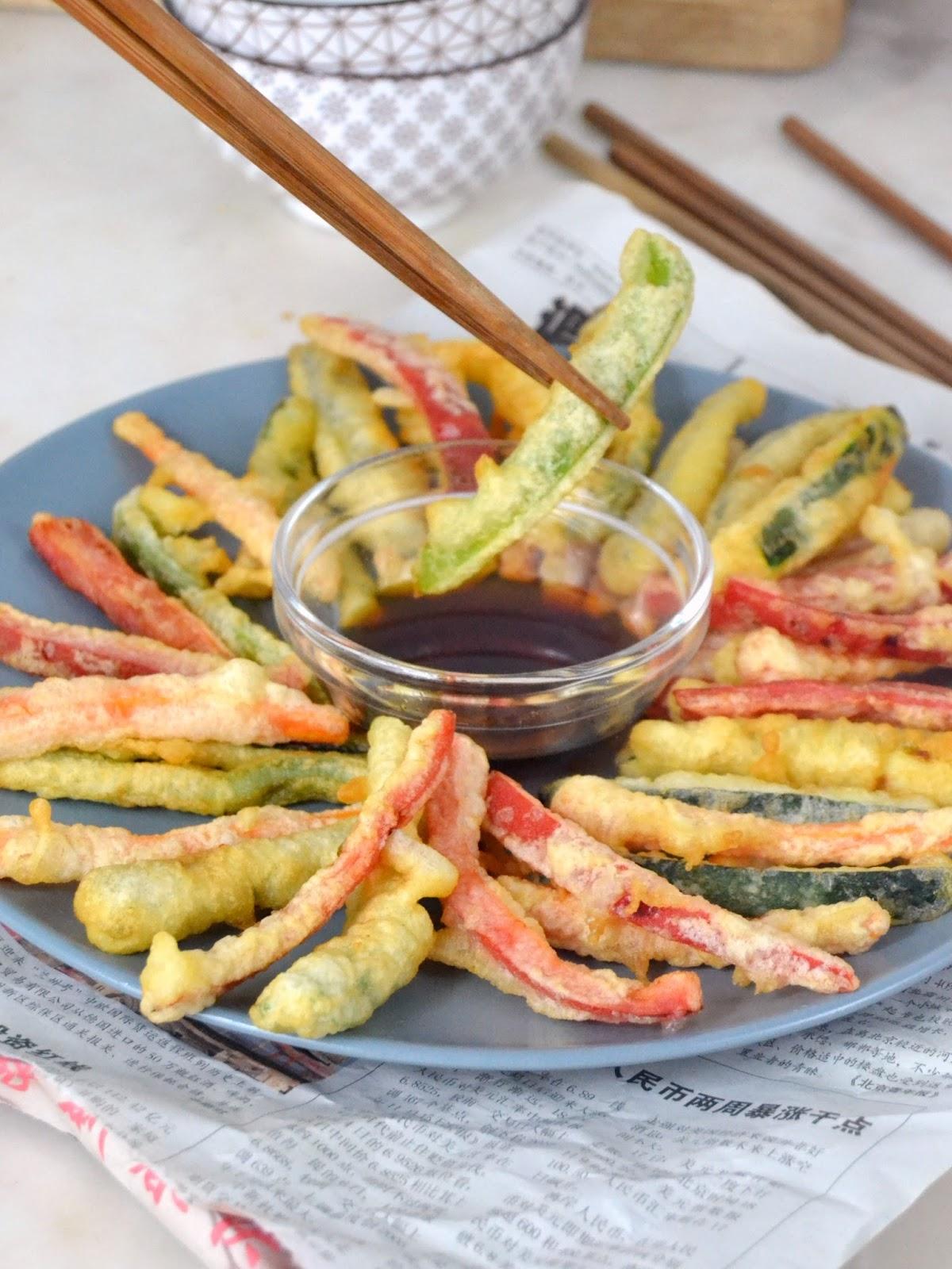 Tempura de verduras mercado flotante kit autoaprendizaje japon