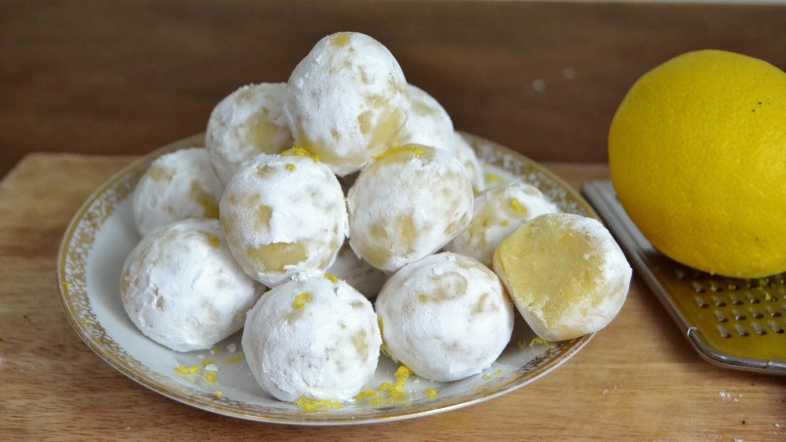Trufas de leche condensada y limón brigadeiros