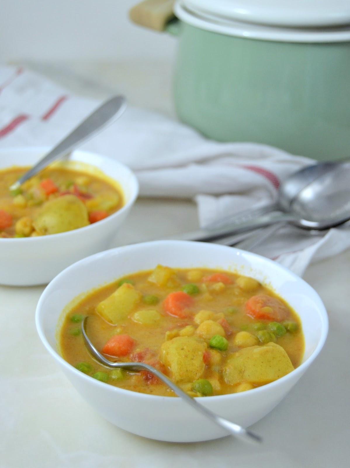 Curry de verduras fácil
