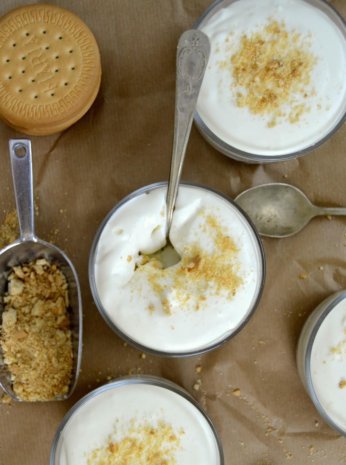 Serradura portuguesa Mousse de leche condensada