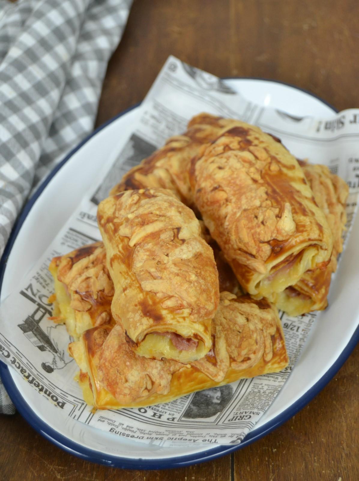 Napolitanas de jamón york y queso