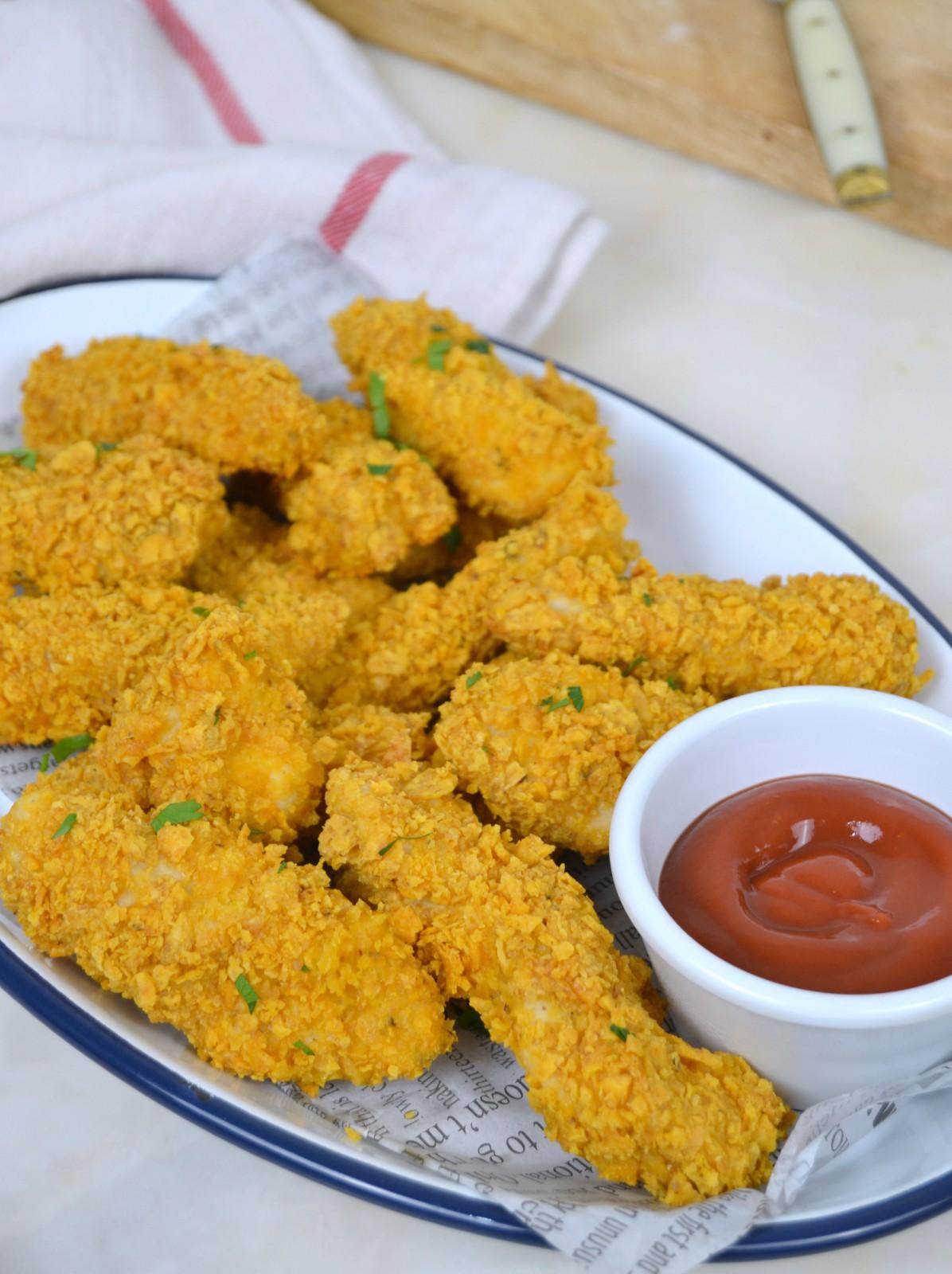 Pollo rebozado al horno con Doritos