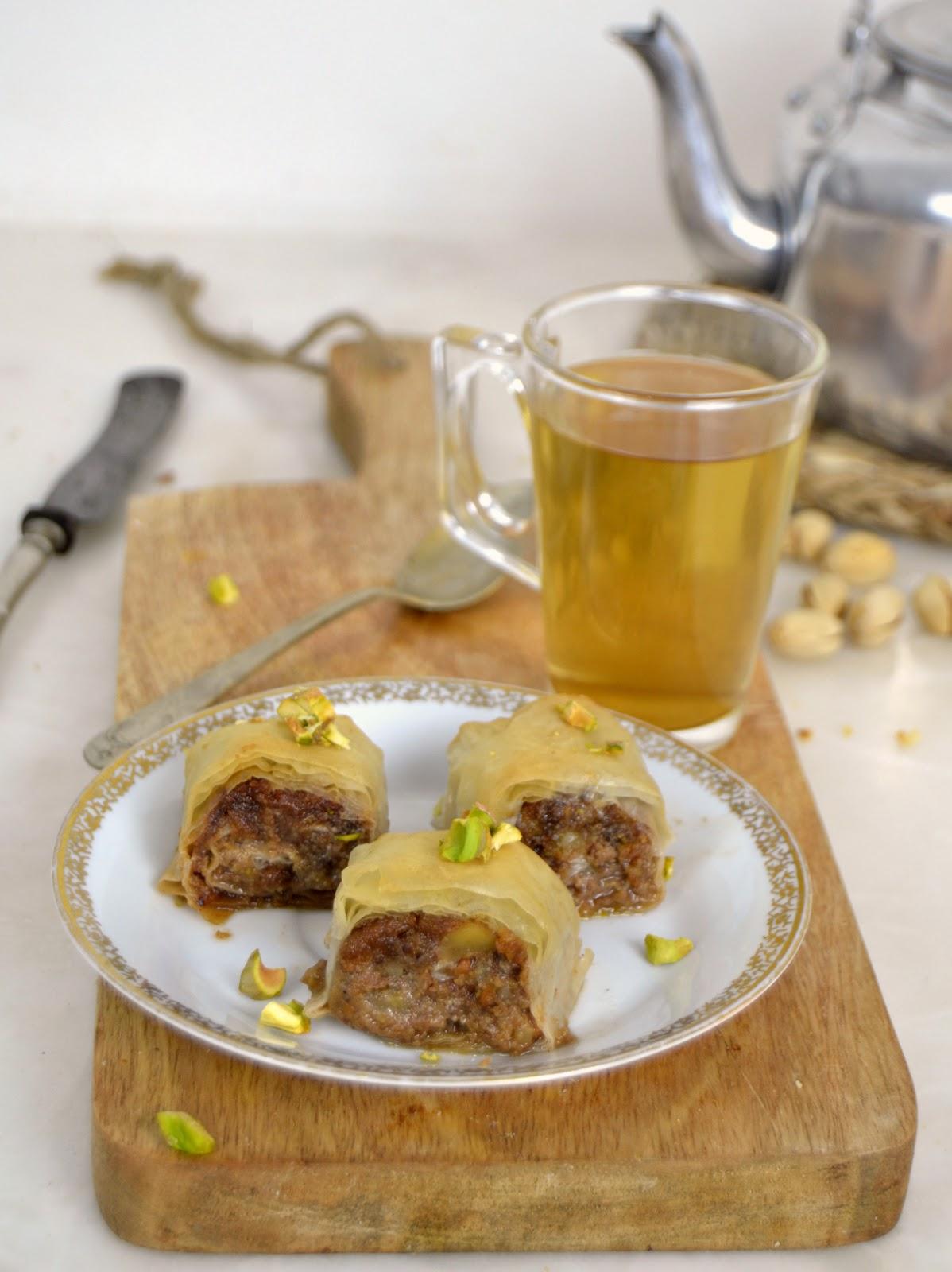 Pastelitos árabes de frutos secos