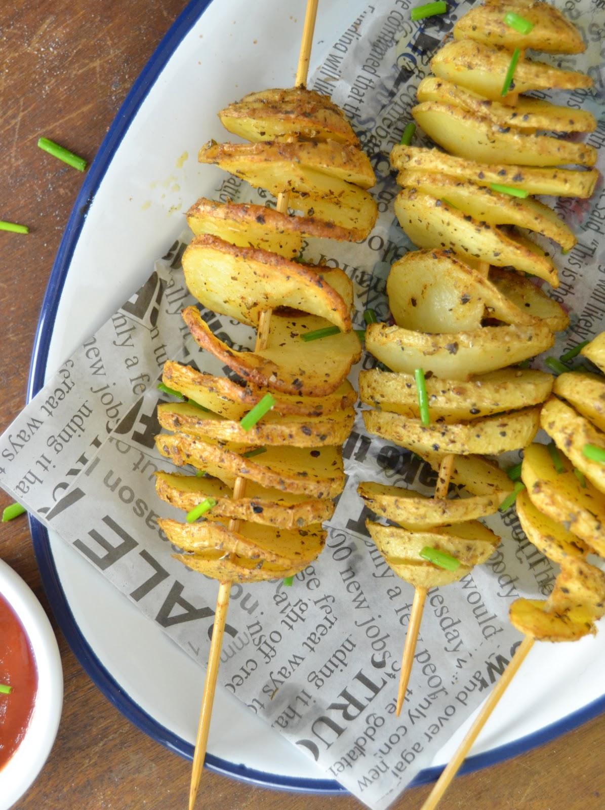 Patatas en espiral caseras ¡Al horno!