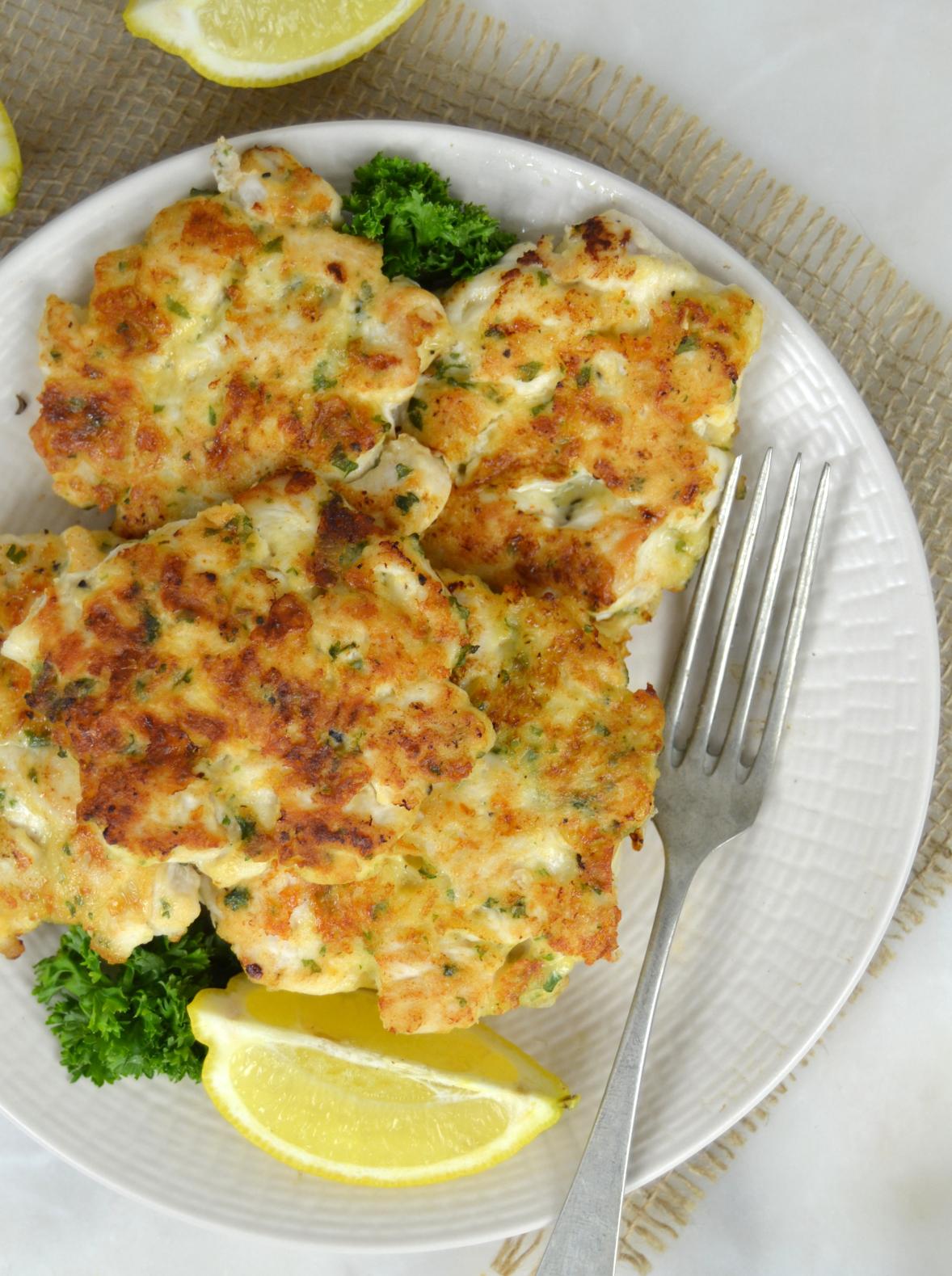 Tortitas de pollo y queso