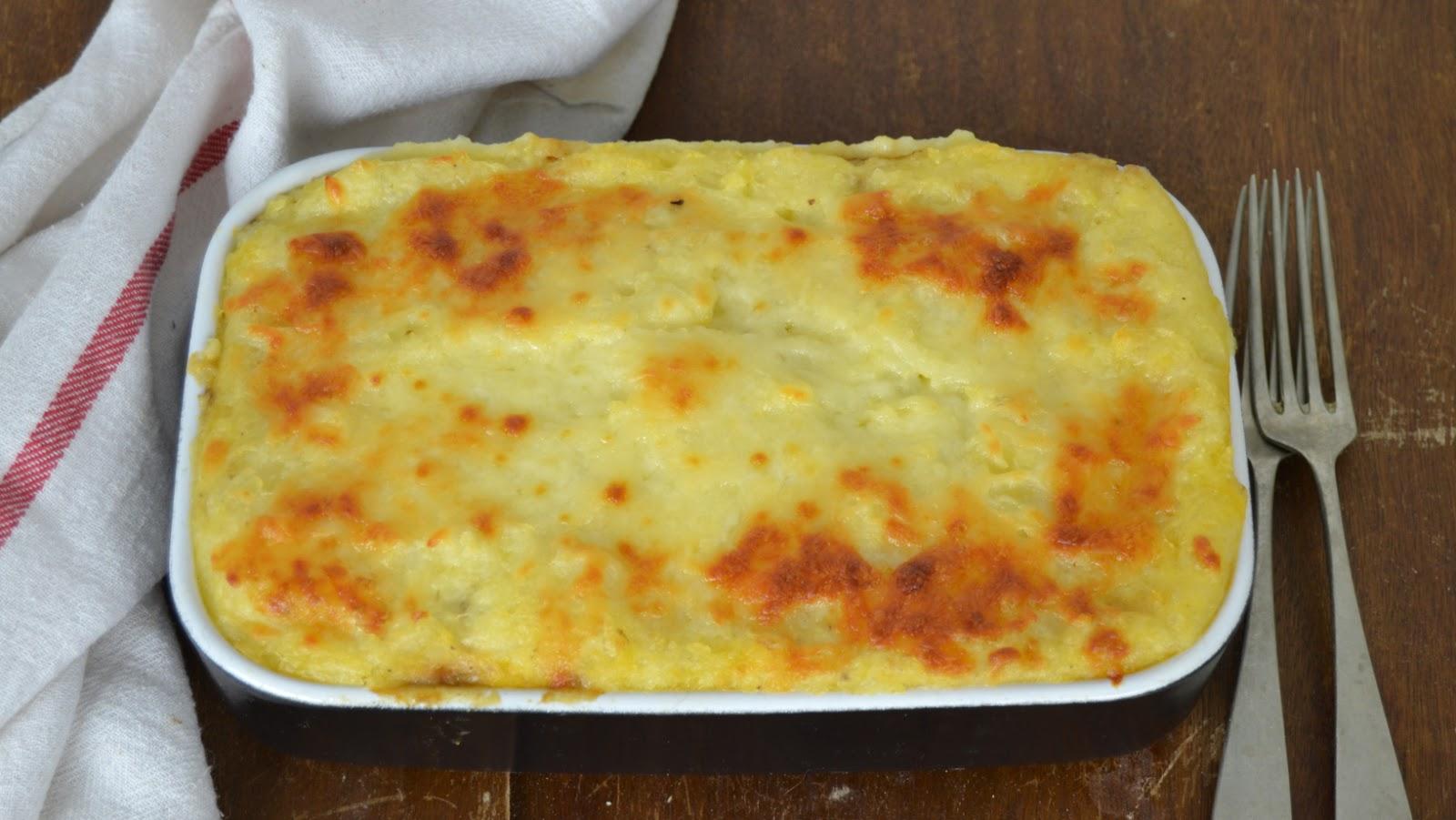 Pastel de pollo y patatas