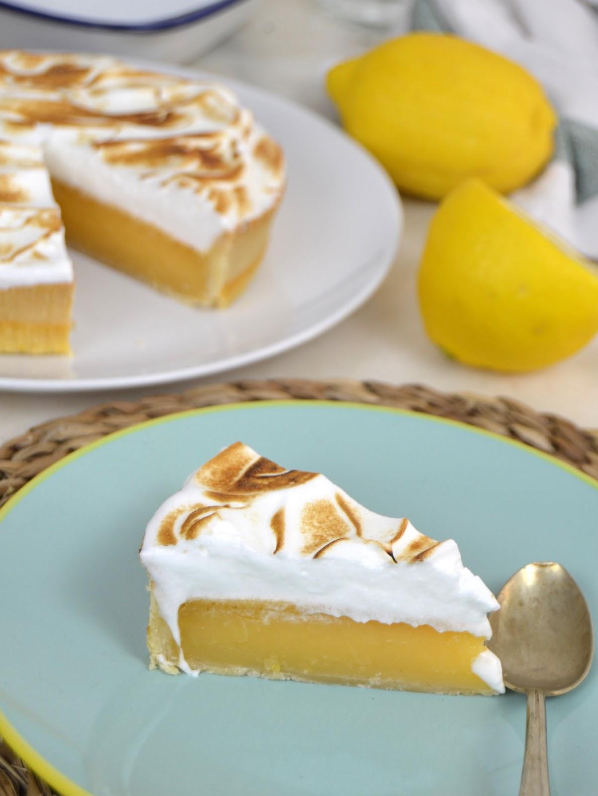 Tarta de limón y merengue  ¡FAcilisima!