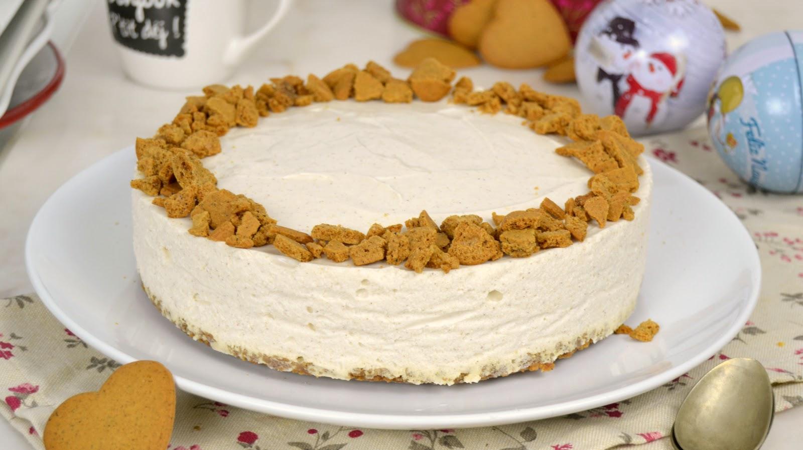 Tarta de queso con galletas de jengibre ¡Perfecta para Navidad!